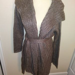 Daisy Fuentes cardigan tunic with belt PS